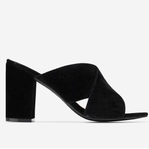 Cole Haan Shoes - Cole Haan Gabby Slip On Suded Peep Toe Mule Heel